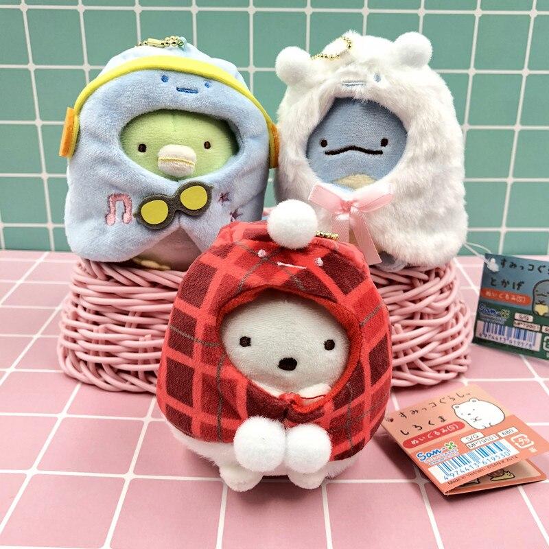 10 Cm Sumikkogurashi Tier Anime Plüsch Puppen Ornament Puppe Kette Anhänger Nette Cartoon Spielzeug Weihnachten Geschenke Neue Plüsch-schlüsselanhänger
