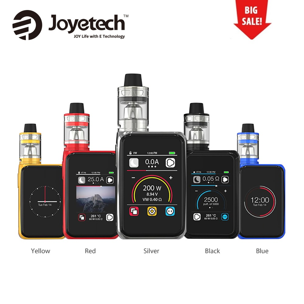 все цены на Hot 200W Original Joyetech Cuboid Pro with 4ml ProCore Aries Atomizer Touchscreen TC Kit No 18650 Battery Vape Box Mod Vs Alien
