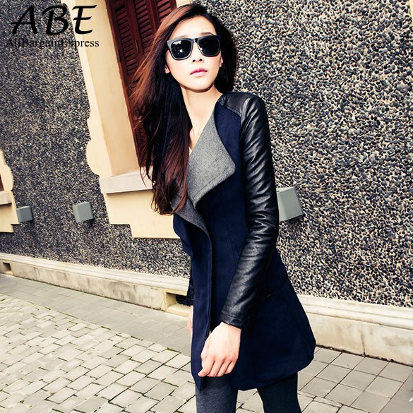 Popular Trench Coat Leather Sleeves-Buy Cheap Trench Coat Leather