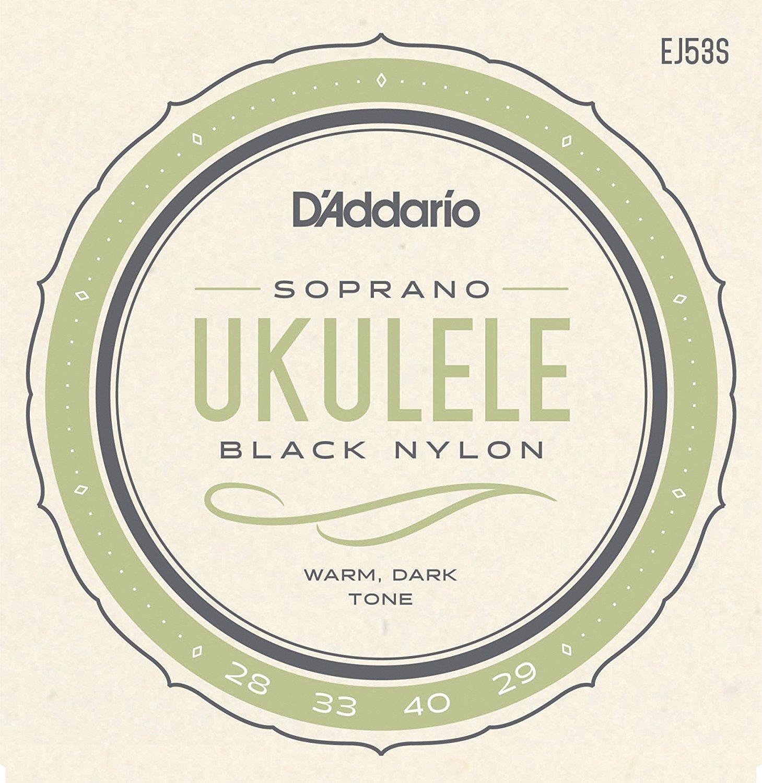 D'Addario Pro-Arte gerectificeerde nylon ukulele snaren, Hawaiian concert / sopraan EJ53S EJ53C