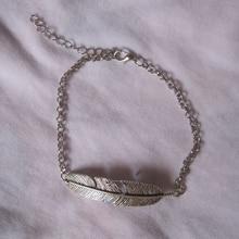 Pulsera de hoja de árbol Vintage Europa Antic Chapado en plata hoja en forma de joyería de mano pulsera de pluma para mujeres pulseras de boda