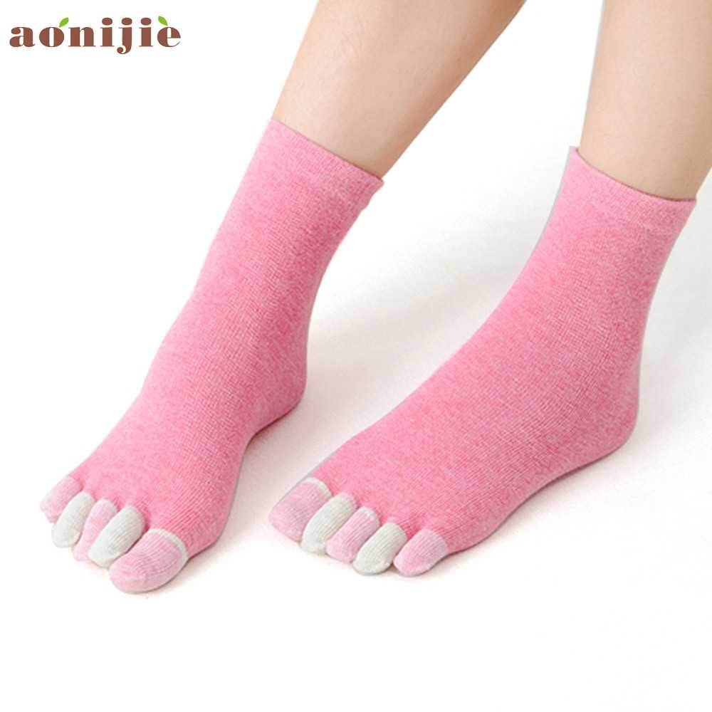 Vrouwen sokken Katoen meisje vijf vingers sokken Massage Antislip grip vrouwelijke mujer teen sok yoga sport hak dunne deporte slang jan20yp