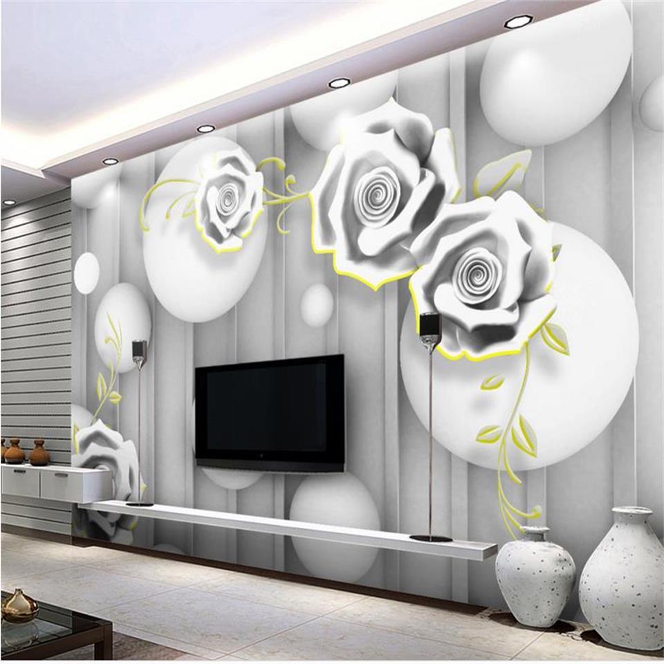 3d photo wallpaper custom mural living room cloth carving rose ...