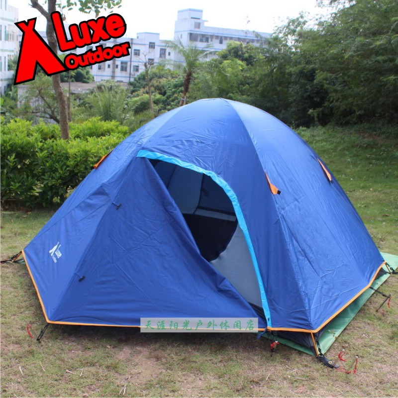 Luxe safari 2 outdoor c&ing tent! Double layer three seasons two people hiking tent! Lovers picnic tent waterproof strong tent & Sale Luxe trail outdoor camping tent 3 4 people 3 season family ...
