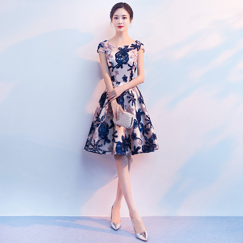 2018 New Spring And Autumn Long Elegant Formal Tight Chinese Style Evening Dress