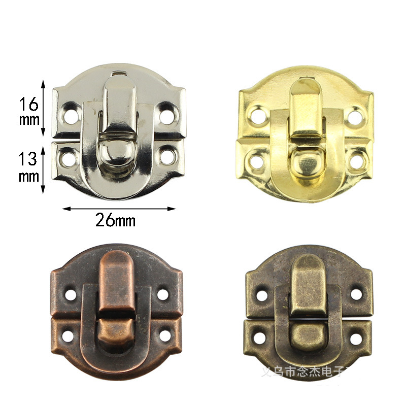 30Pcs Antique Hasps Iron Lock Catch Latches For Jewelry Box Buckle Suitcase Buckle Clip Clasp Wood Wine Box Latch