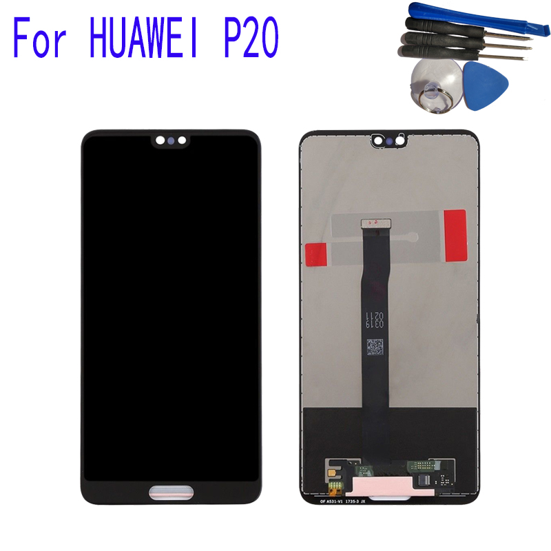 New 5.8 For Huawei P20 LCD Display Touch Screen Digitizer Assembly Replacement LCD Display With FrameNew 5.8 For Huawei P20 LCD Display Touch Screen Digitizer Assembly Replacement LCD Display With Frame