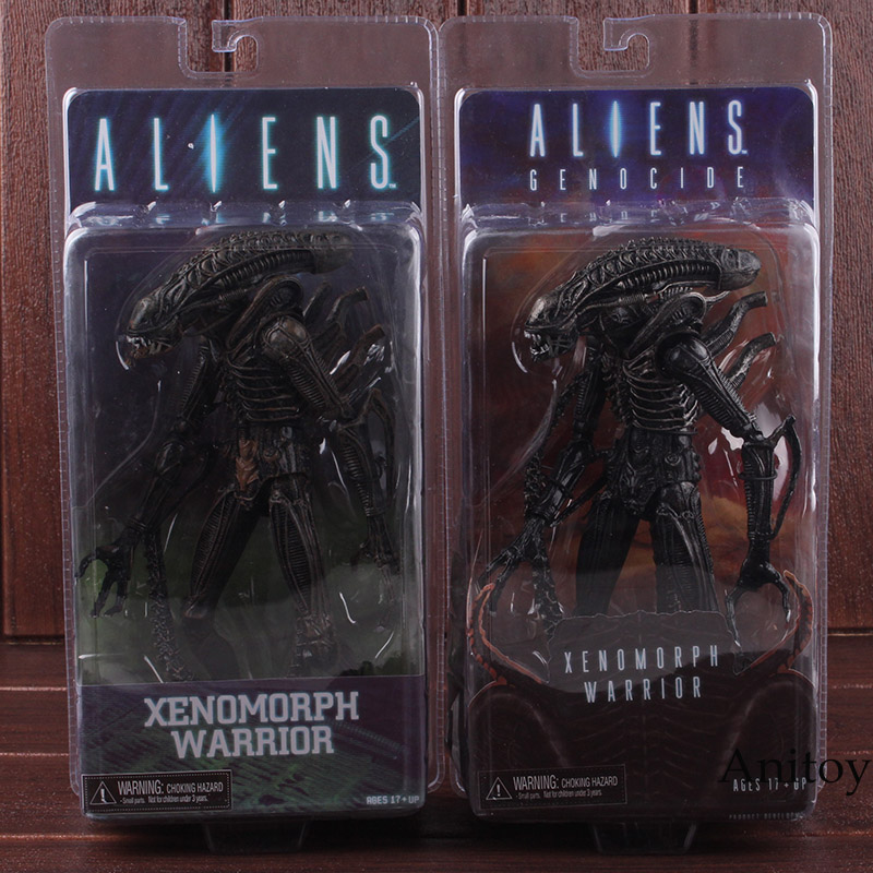 NECA Aliens Genocide Series Xenomorph Warrior Black Yellow PVC Alien NECA Xenomorph Action Figure Collectible Model Toy цена