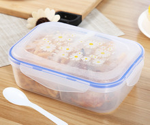 High Quality 1000ml Lunch Box Healthy Plastic 3 cell Food Container Bento Boxes Microware oven LunchBox
