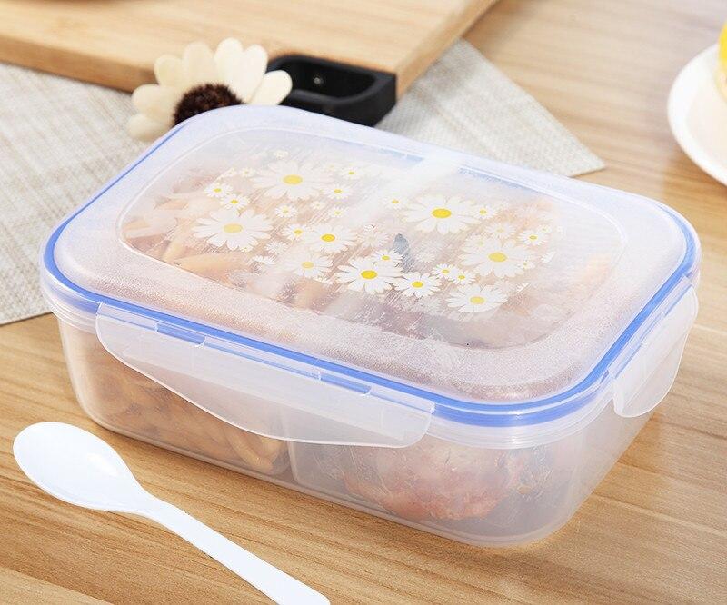 Hohe Qualität 1000 ml Mittagessen Box Gesunde Kunststoff 3 zelle Lebensmittel Container Bento Boxen Microofen LunchBox