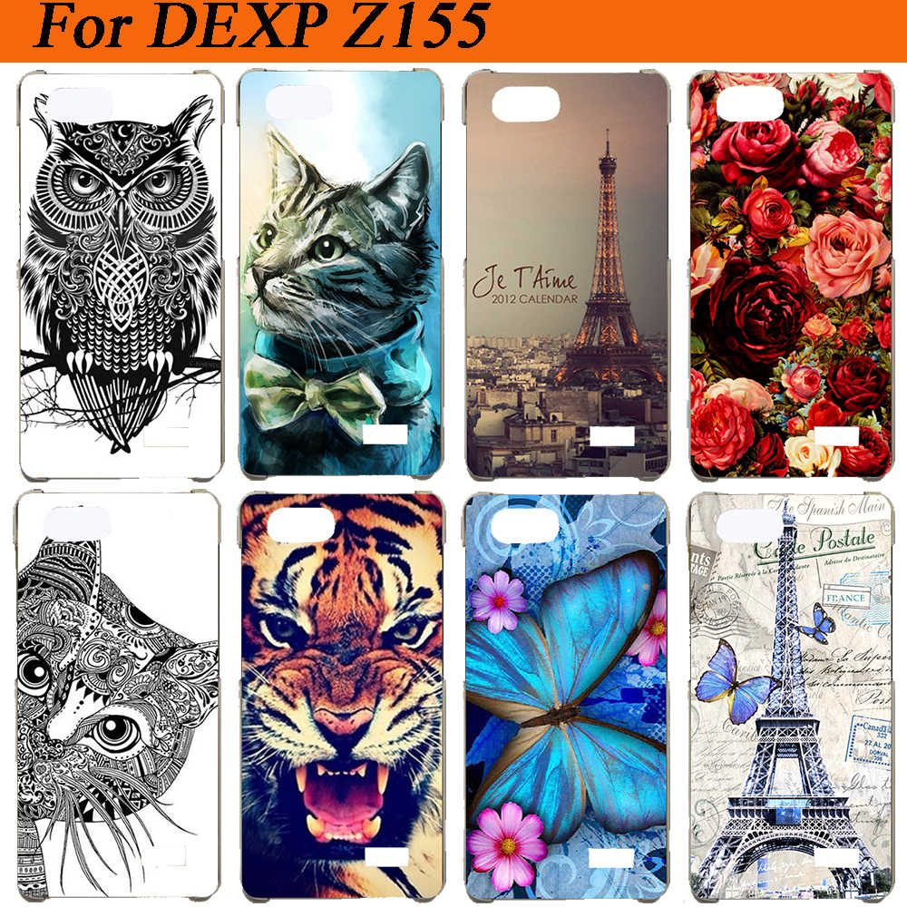 "Cho DEXP Z155 Trường Hợp Che Silicon Wolf Tiger Owl Rose Eiffel Tháp Pattern Painted Mềm Tpu Trường Hợp Cho DEXP Z155 5.5 ""Trường Hợp Fundas"