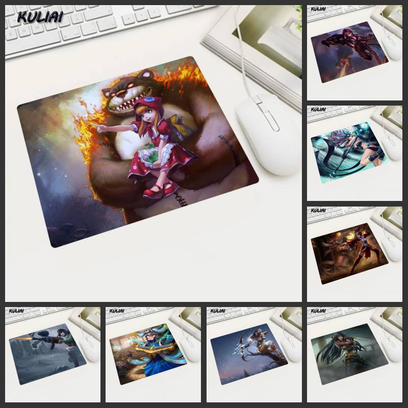 XGZ League of Legends Mouse Pads Small Office Family Desk Pc Laptop Gamer Mouse Pad Game Mousepad Lol Mat Pad Rubber Cup Mats