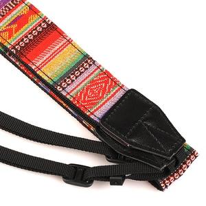 Image 4 - Калиу этнический стиль фото камера цветной ремешок хлопок Yard шаблон шеи ремень DSLR Плечевой ремень для Canon Nikon Sony ручка