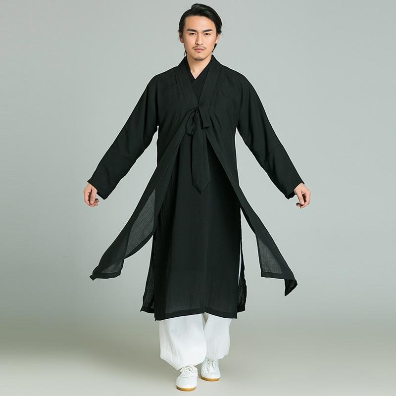 Automne Film Télévision Performance Porter Vintage Moine Han Fu Haut Ample Tai Chi Kung Fu Vêtements Tous les Jours Robe Robe Taille XS-XXL