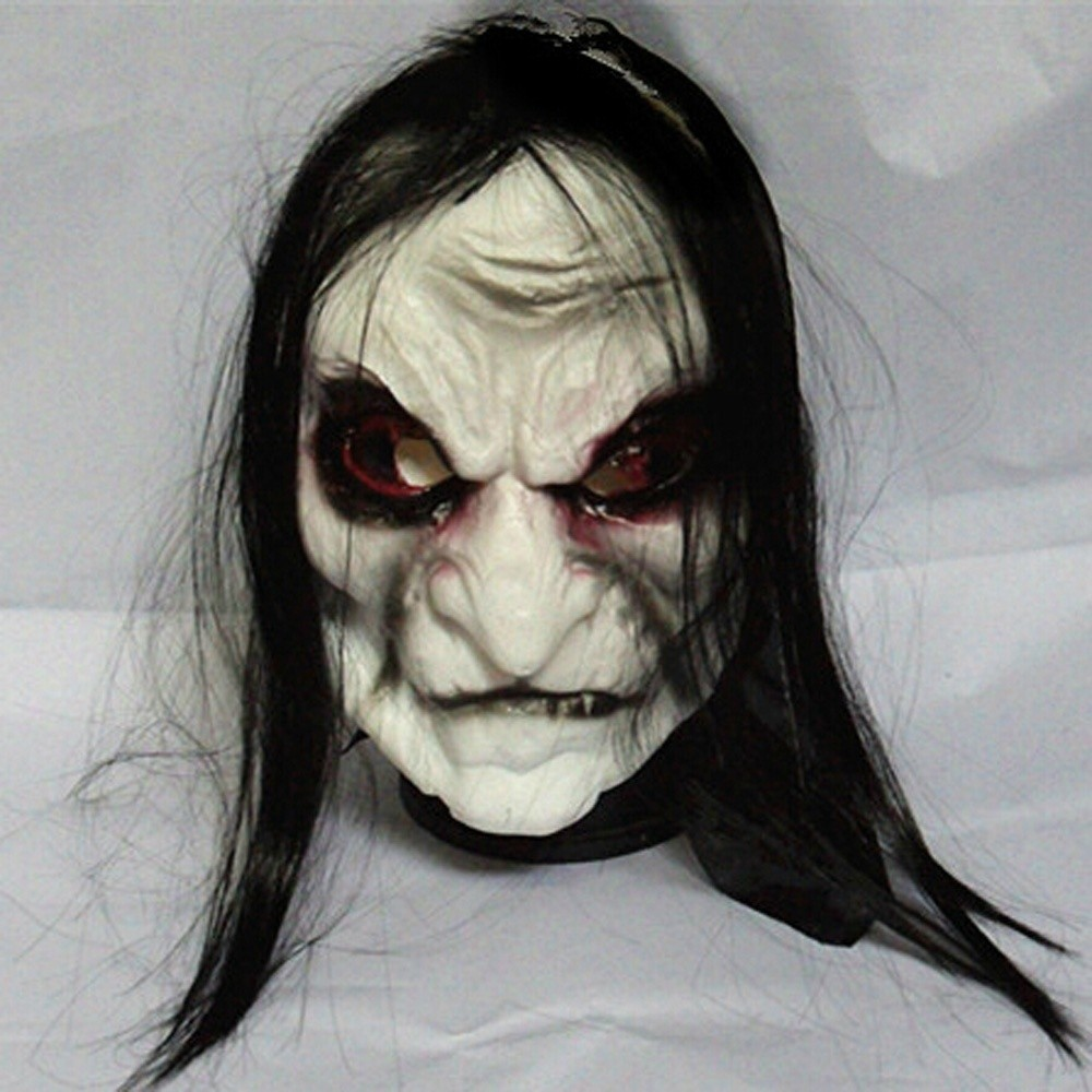 hot New halloween mask Long Hair Ghost Mask Blooding Ghost Cosplay ...