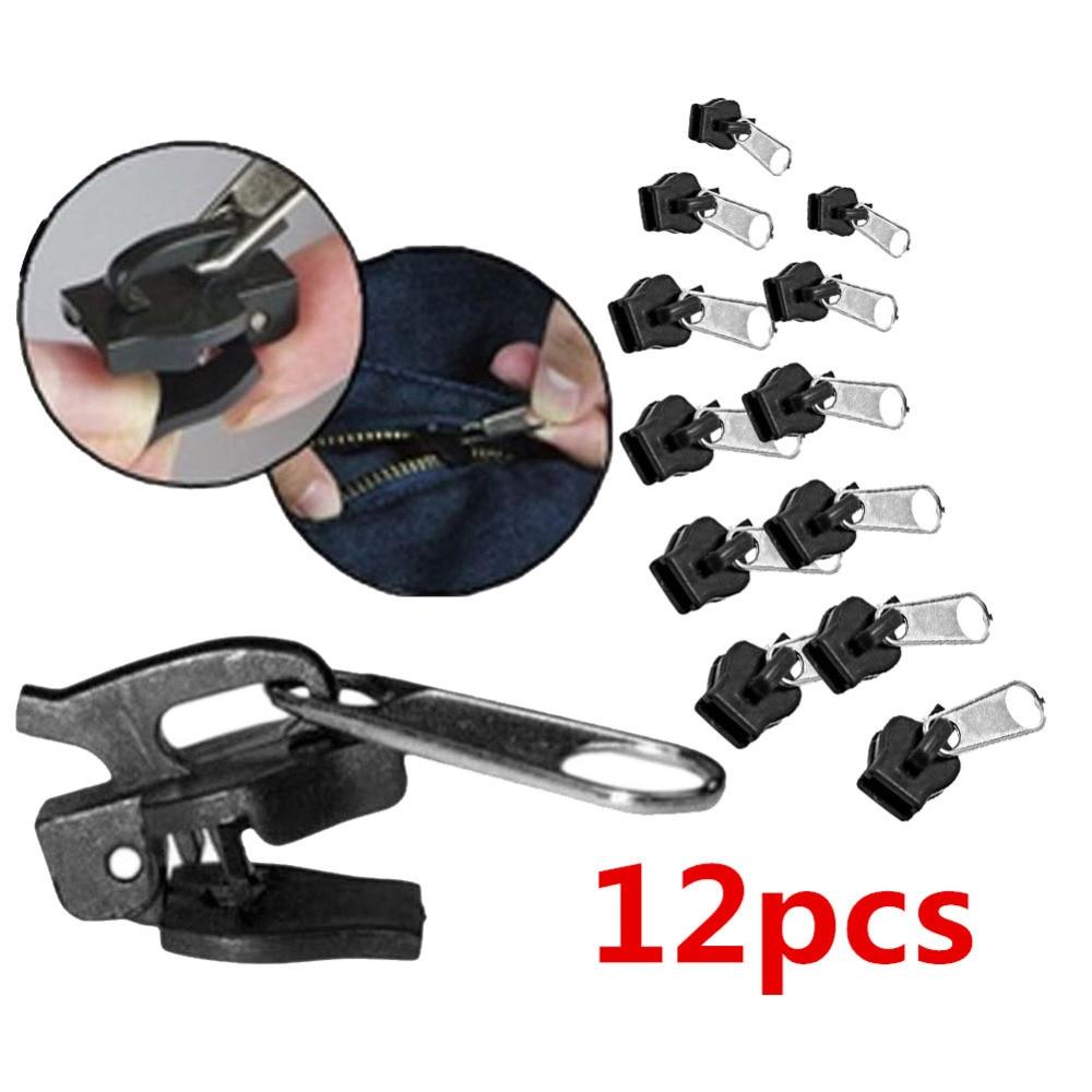 6/12pcs Fix Zipper Slider Zipper Head Universal Kit Replacement Instant Repair Zipper Convenient Useful Free Shipping&Wholesales(China)