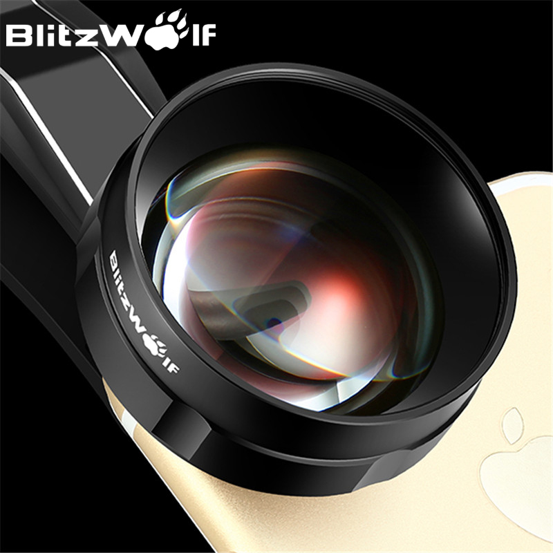 BlitzWolf Fischauge Handy-kamera-objektiv Optische 3X HD Teleobjektiv Fisheye Mit Kapuze Clip Universal Für iPhone Für Samsung