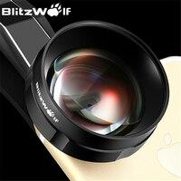 BlitzWolf Fish Eye Mobiele Telefoon Camera Lens Optische 3X HD Telelens Fisheye Met Kap Clip Universele Voor iPhone Voor Samsung