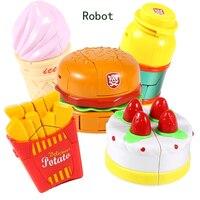 5 stks/set Vervorming Robot Combineren Transformatie Play Food Speelgoed Voor Kinderen Action Figure Puzzel Speelgoed Kinderen Robot Kit