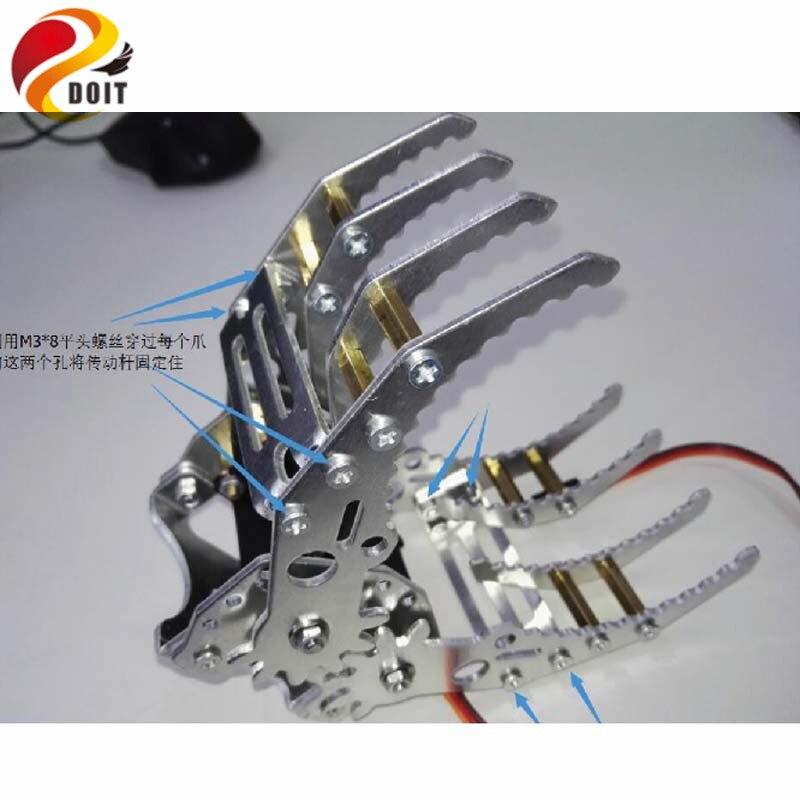 DOIT Robotic Arm Metal Arm Robot Manipulator Gripper Claw