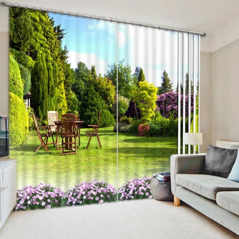 rideaux occultants modernes 3d motif paysage de foret en bambou tissu lavable rideau de chambre a coucher pour enfants cafe bureau pour salon