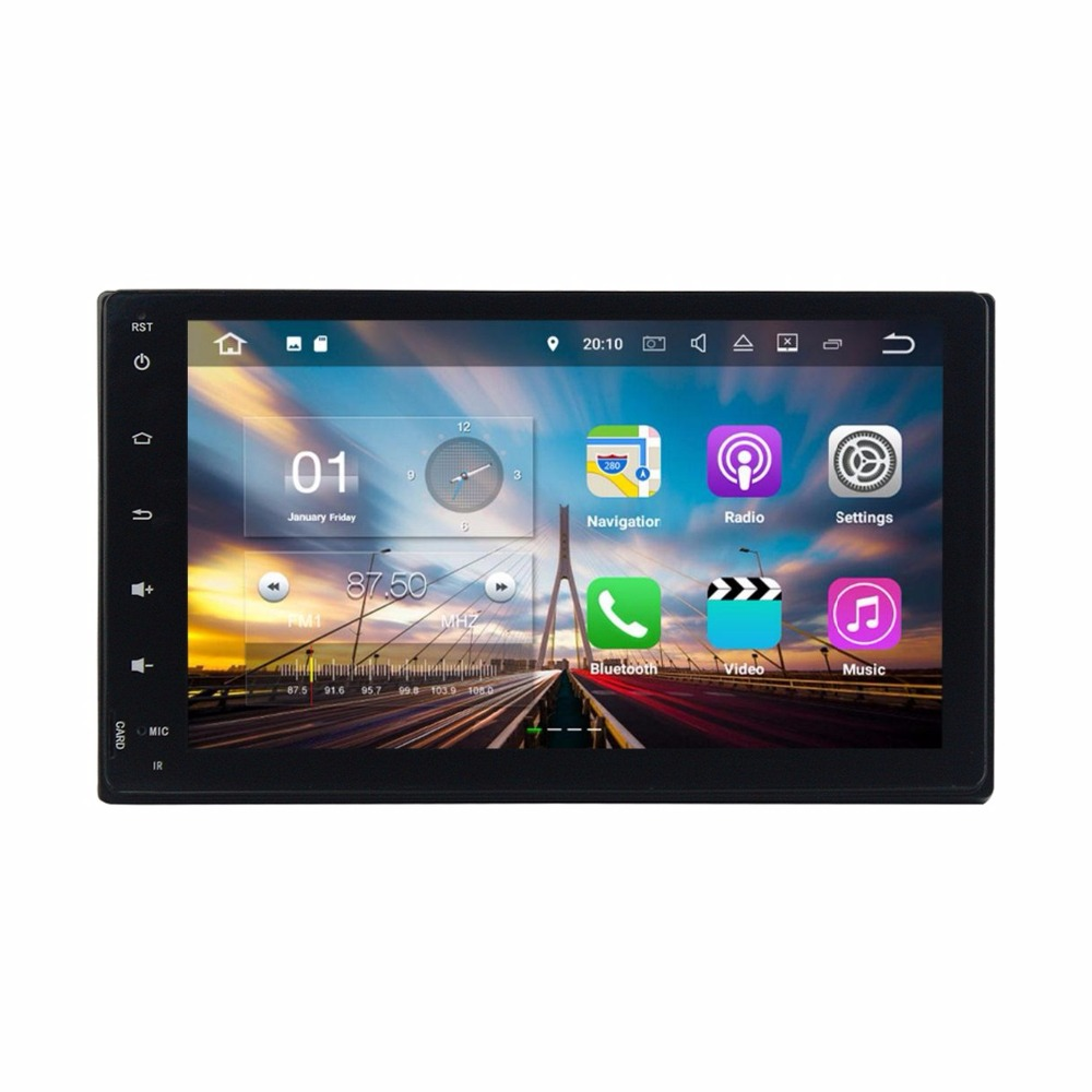 Android 7.1 Quad Core Car Radio DVD GPS Multimedia Head Unit for Toyota Fortuner 2016 2017 2GB RAM Bluetooth WIFI Mirror-link