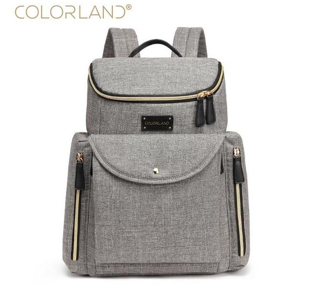 23998a5babaf Colorland Baby Bag Fashion Nappy Bags Large Diaper Bag Backpack Baby  Organizer Maternity Bags For Mother Handbag Baby Nappy