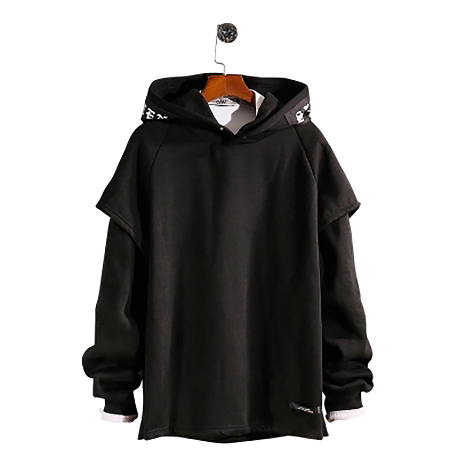 À Manches longues Polaire Hommes Shirts En Peluche Raglan Pulls Hoodies Mens Street Wear Esthétique Homme Mode Rave Sweat 6H030
