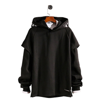 Long Sleeve Fleece Hoodie Men Plush Raglan Pullovers Hoodies Mens Street Wear Fashion Hip Hop Korean Sweatshirt sudadera Hombre