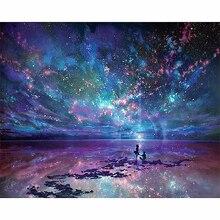 "Full diamond 5D DIY diamond painting ""Dream Star Ocean"" wedding rhinestone mosaic cross stitch decorative wall home gifts"