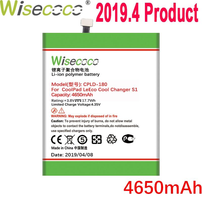 WISECOCO 4650 мАч CPLD-180 батарея для Coolpad LeEco Cool Changer S1 C105-8 телефон в наличии новейшее производство высокое качество батарея