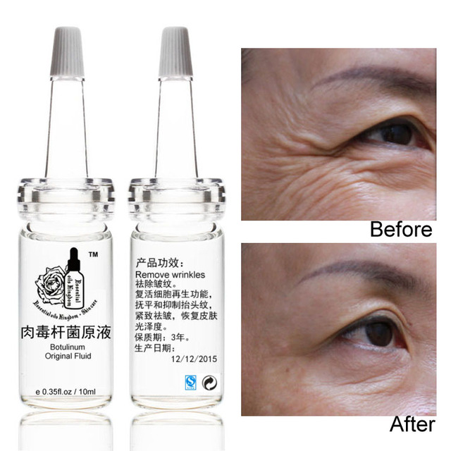 Hot Sale Clostridium Botulinum Original Fluid Vegneotox Anti Aging Wrinkles Finelines Firming Skin Serum Free Shipping 10ml*2pcs