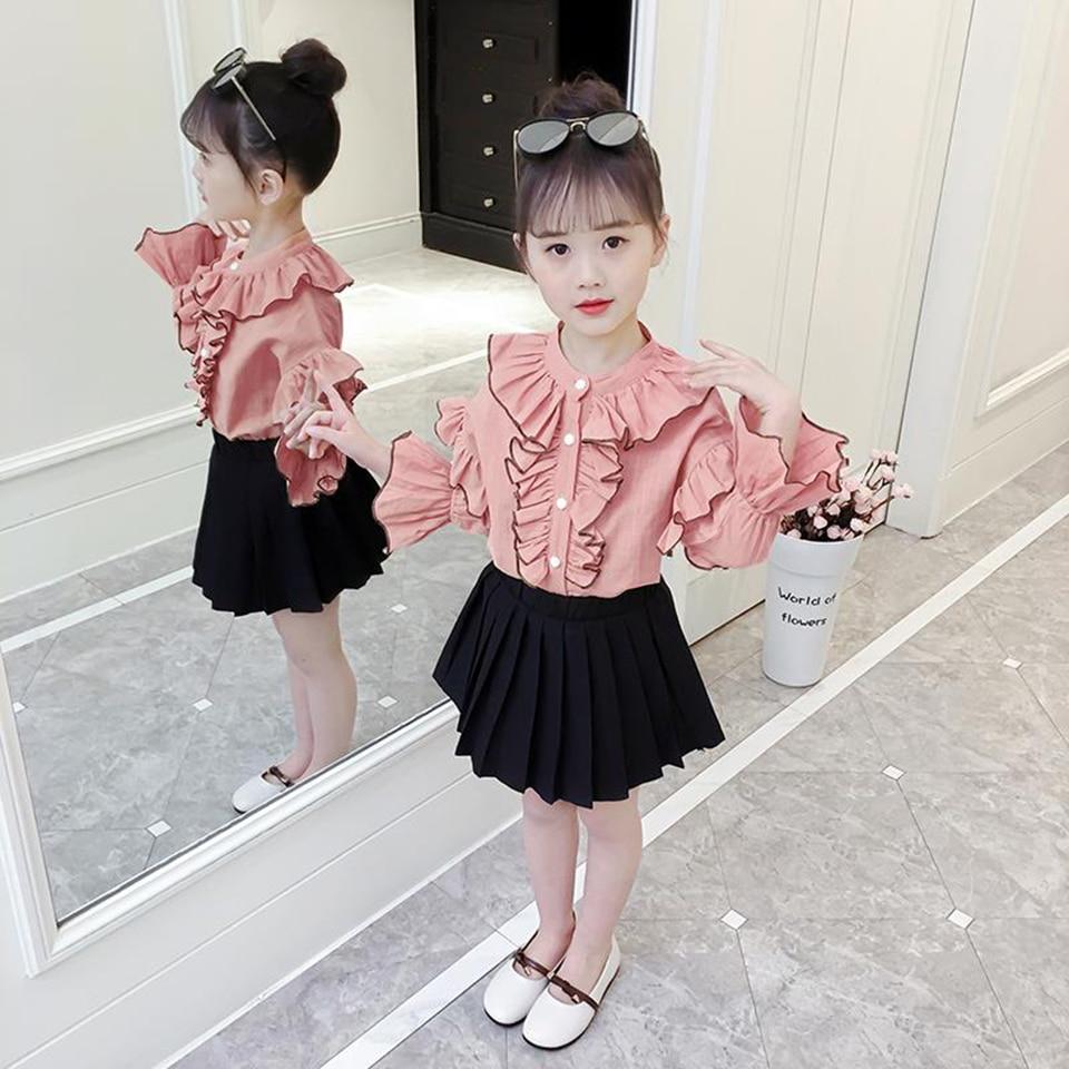 venda quente 2019 criancas meninas roupas definir 04