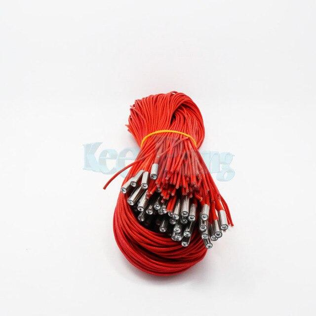 Imprimante 3D cartouche chauffante 12V 30W 6*20mm longueur 100cm pour MK Mendel Reprap extrudeuse pièces chaleur partie cartouche chauffante