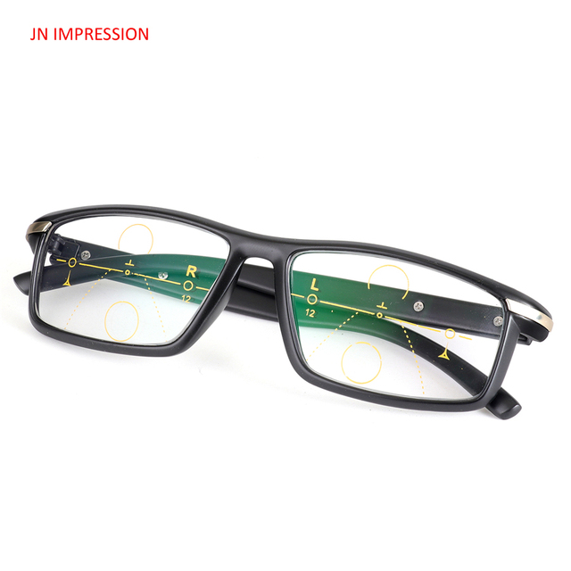 794efbce75e75 JN IMPRESSION Progressive Multifocal Lens Reading Glasses Men Oculos De  Grau Presbyopia Hyperopia Bifocal Sports Glasses