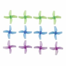 Multi-color Translucent Propellers for JJRC H36/Eachine E010/Blade Inductrix Micro Drone 12pcs