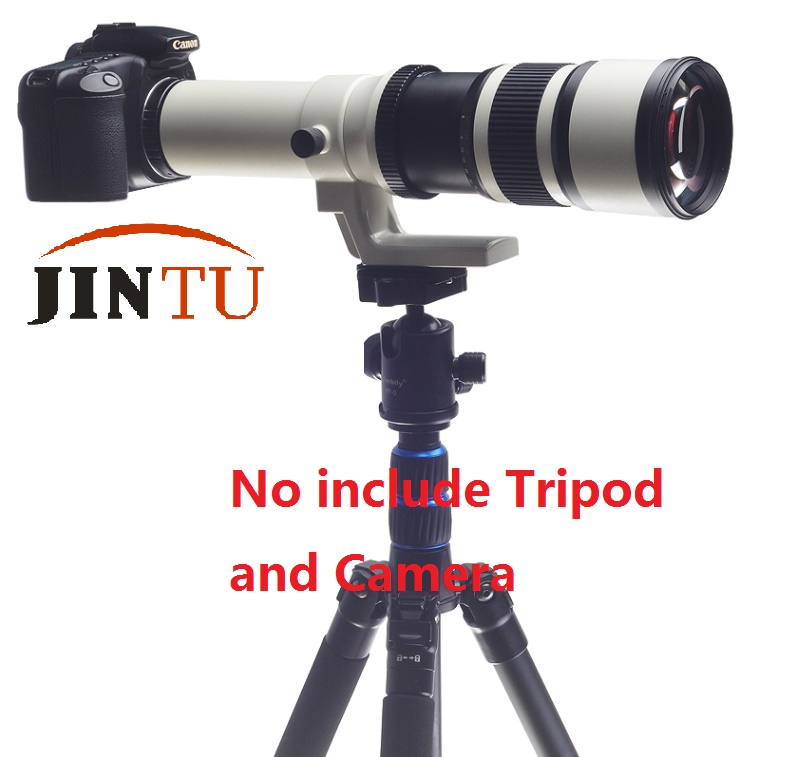 JINTU 500mm f/6.3 Téléobjectif Fixe Focale fixe + T2 Adaptateur pour Appareil Photo Canon EOS 1300D 1200D 1100D 60D 70D 80D 7D 750D 800D 5DII - 3