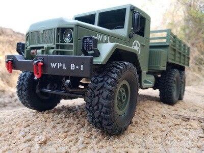 WPL B-16 RC voiture 1:16 télécommande camion militaire 6 roues conduire tout-terrain 4WD batterie alimenté voiture d'escalade RTR jouet pour les enfants