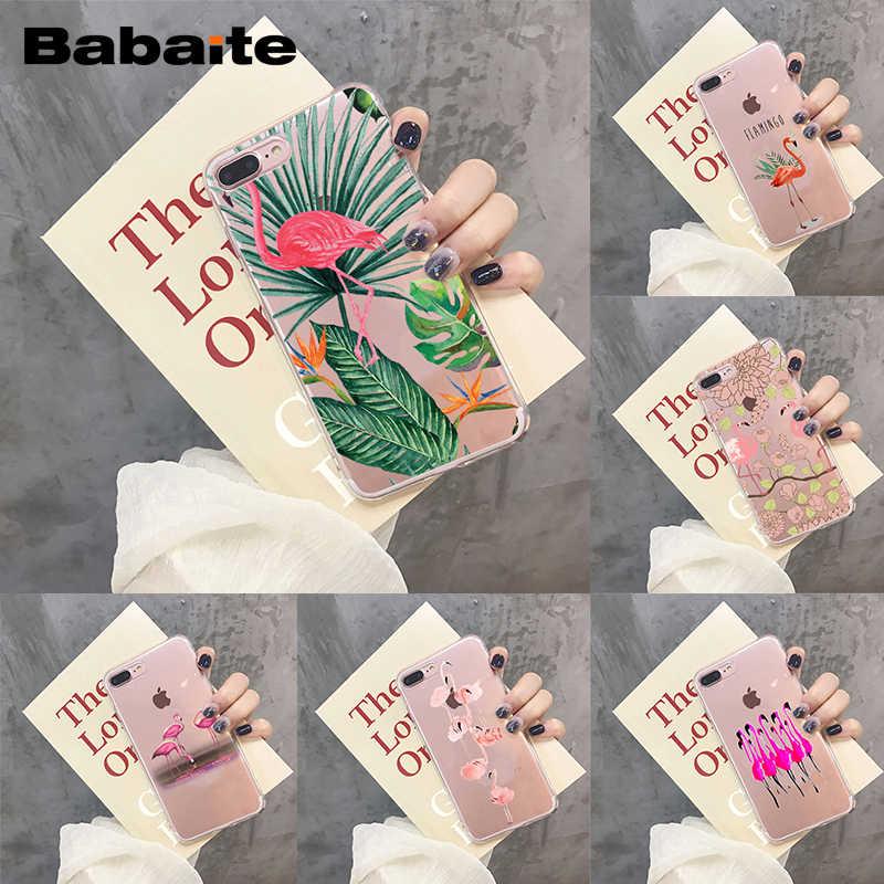 独占自家製 Babaite フラミンゴ花電話ケース iphone 5 6 6S 6 プラス 6 S-plus 7 7 プラス 8 8 プラス X XR XS11 11pro 11promax