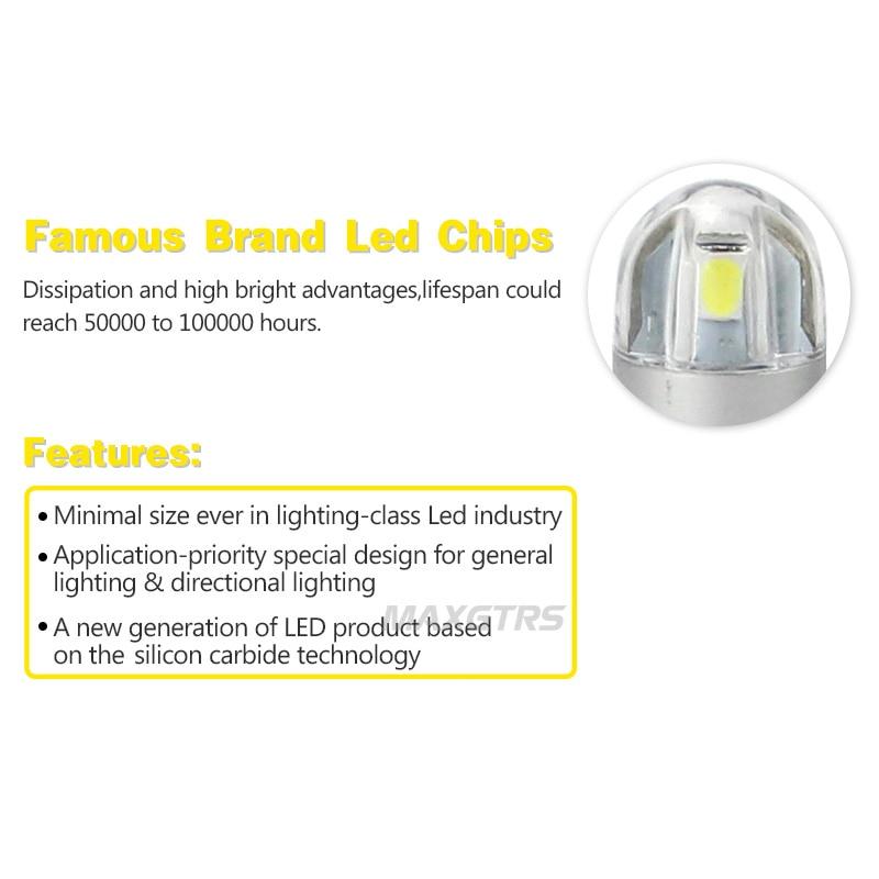 2x T10 168194 W5W LED 3030 Bombillas de repuesto de chips Luces de - Luces del coche - foto 4