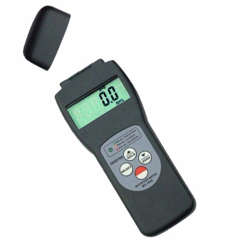 MC 7825S di Umidità del Tester del tester Tipo di Ricerca Digitale In Fibra di Legno Terreno Gamma di 0 ~ 70% Portatile di Umidità Gauge Display LCD - 2