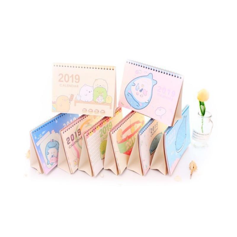 Kalender, Planer Und Karten Diszipliniert 2018-2019 Nette Cartoon Sumikko Gurashi Whale Stehend Schreibtisch Kalender Desktop Zu Tun Liste Täglichen Planer Buch Japanischen Schreibwaren Strukturelle Behinderungen