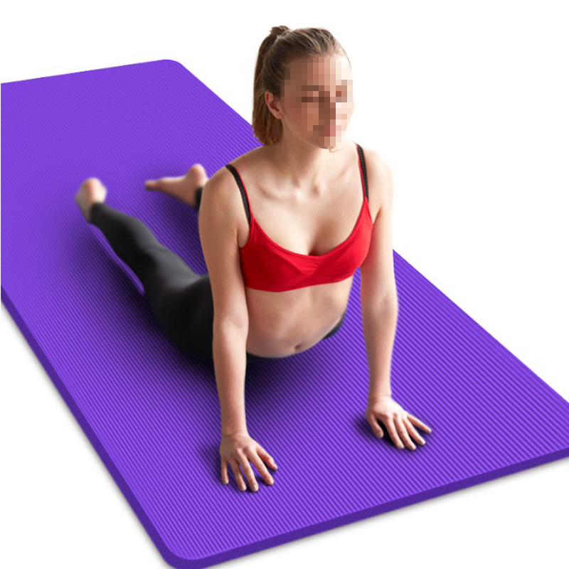 15MM NBR Non-slip Yoga Mats For Fitness Brand Pilates Pads Sport Mats Outdoor Camping Pads Picnic Mats With Yoga Strap 185*80cm