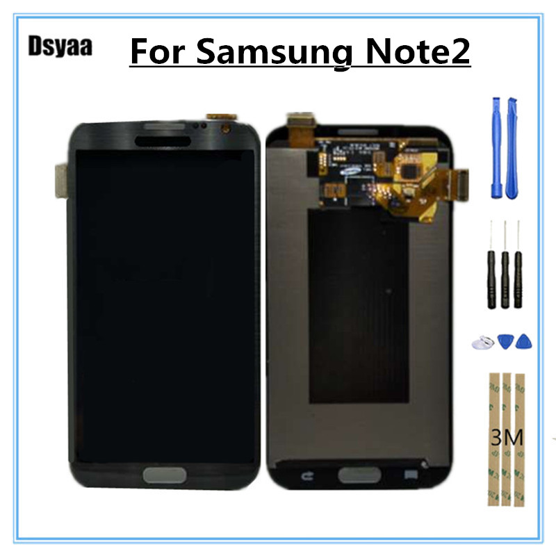 5.5 Amoled Lcd For Samsung Galaxy Note 2 Note2 N7100 N7105 T889 I317 I605 L900 Screen Display Digitizer Assembly Free Shipping Mobile Phone Lcds Cellphones & Telecommunications