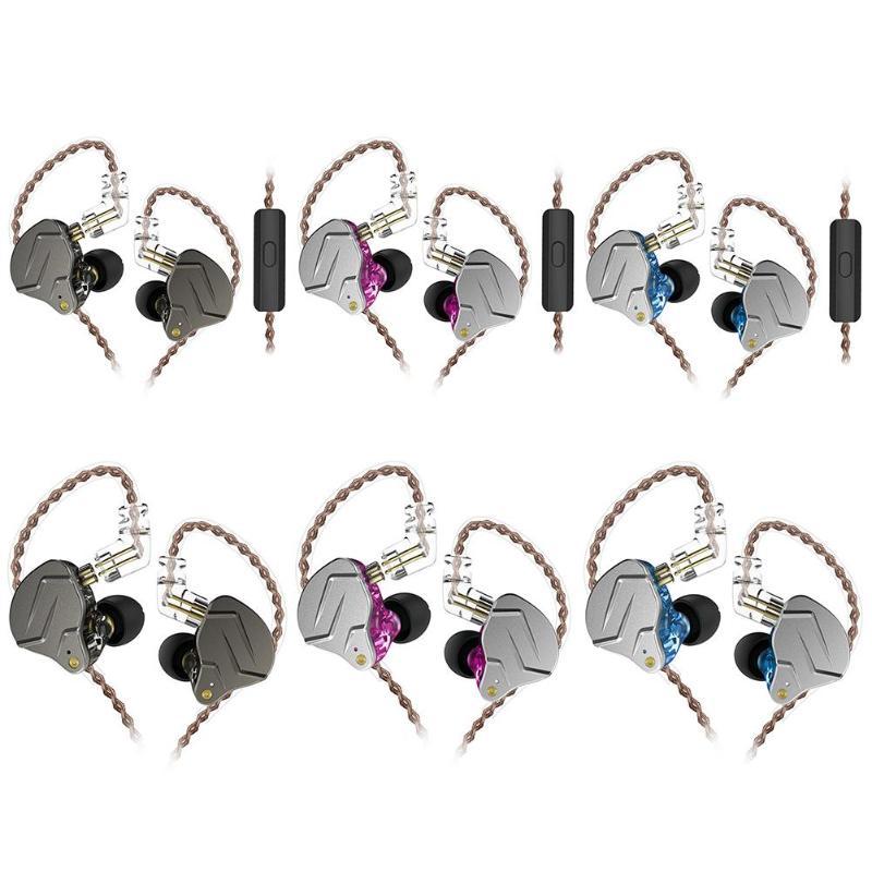 KZ ZSN Pro Metal Earphones 1BA+1DD Hybrid Professional HIFI Bass Earbuds In Ear Headset Sports Music Earphones with Mic/no Mic