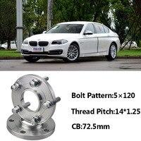 Yüksek Kalite 2 adet Yeni 5x120 72.5CB Merkezi jant flanşı Hub M14 * 1.25 Cıvata BMW Serisi Için