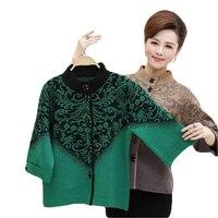 2017 New Autumn Winter Women S Three Quarter Sleeve Cashmere Sweater Outerwear Cardigan Plus Size Winter
