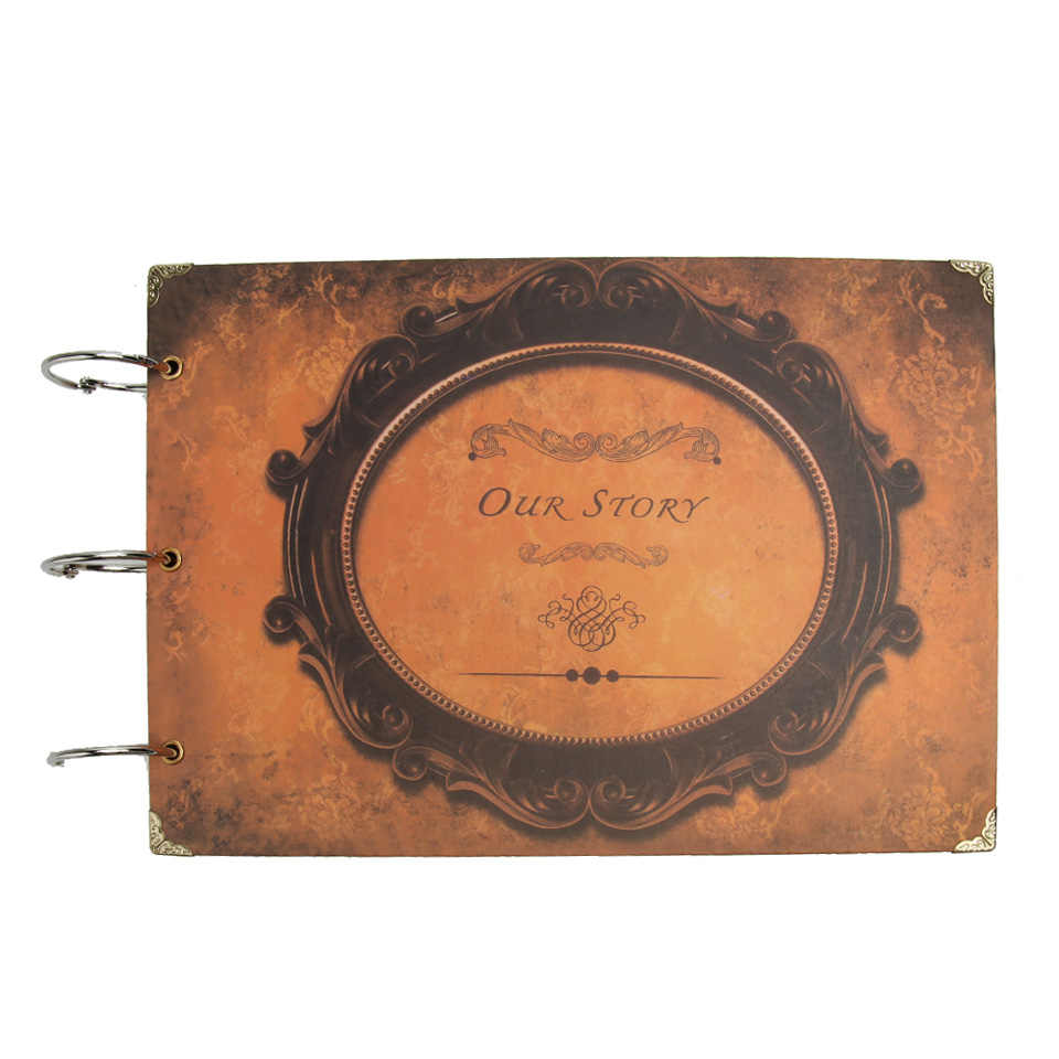 60 pages Our Story Photo Album Creative Commemorative Handmade Loose-leaf Scrapbook Albums Wedding Photo Album