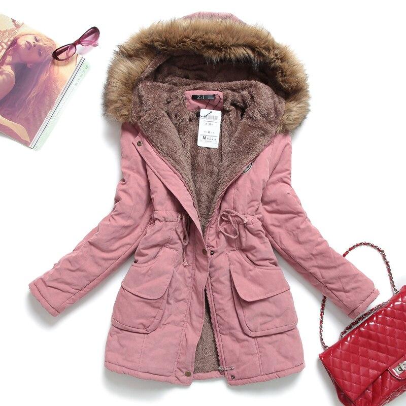 New Winter Women Jacket Medium-long Thicken Plus Size Outwear Hooded Wadded Coat Slim Long   Parka   Cotton-padded Jacket Overcoat