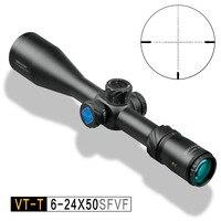 Открытие VT T 6 24X50 SFVF DLT FFP MIL первая фокальная плоскость охотничий ружейный прицел для пневматики прицел пневматической винтовки Камера крепл